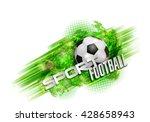 design sports football banner...   Shutterstock .eps vector #428658943