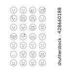 black outline emoticon vector....