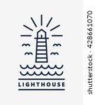 lighthouse logo template design | Shutterstock .eps vector #428661070