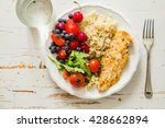 my plate   portion control guide | Shutterstock . vector #428662894