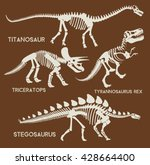 Dinosaurs Silhouettes Set....