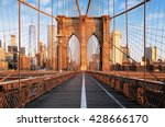 brooklyn bridge at sunrise  new ...