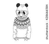 panda boy dressed up in... | Shutterstock .eps vector #428666584