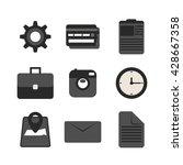 icons flat set. vector...