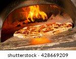 fresh original italian pizza in ... | Shutterstock . vector #428669209