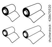 vector roll of any foil black... | Shutterstock .eps vector #428670520