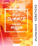 summer beach party flyer or...   Shutterstock .eps vector #428674243