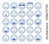 set of emoticons  emoji and... | Shutterstock .eps vector #428674750