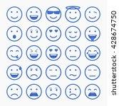 set of emoticons  emoji and... | Shutterstock .eps vector #428674750