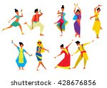 indian dancer vector... | Shutterstock .eps vector #428676856