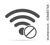 wireless icon with shadow.  no... | Shutterstock .eps vector #428680768