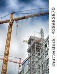 urban highrise building under... | Shutterstock . vector #428683870