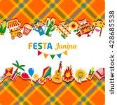 festa junina village festival... | Shutterstock .eps vector #428685538