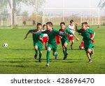victory on kids football match   Shutterstock . vector #428696470
