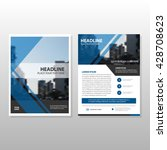 blue vector annual report...   Shutterstock .eps vector #428708623
