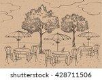 cafe  restaurant  street cafe... | Shutterstock .eps vector #428711506