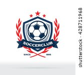 soccer club logo  football star ... | Shutterstock .eps vector #428711968