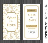 modern wedding invitation with... | Shutterstock .eps vector #428713243