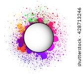 white round paper banner on... | Shutterstock .eps vector #428713246