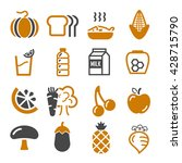 vegetables  fruit icon set | Shutterstock .eps vector #428715790