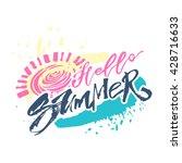 hello summer hand lettering... | Shutterstock .eps vector #428716633