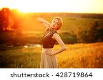 fashion photo of beautiful... | Shutterstock . vector #428719864