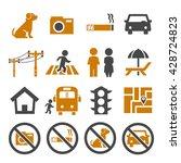 public city sign icon set | Shutterstock .eps vector #428724823