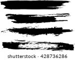 set of grunge brush strokes | Shutterstock .eps vector #428736286