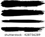 set of grunge brush strokes | Shutterstock .eps vector #428736289