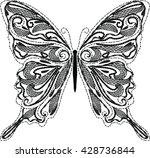 vector calligraphic butterfly... | Shutterstock .eps vector #428736844