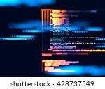 programming code abstract... | Shutterstock . vector #428737549