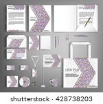 striped corporate identity... | Shutterstock .eps vector #428738203