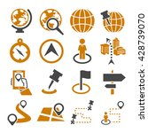 location  place icon set | Shutterstock .eps vector #428739070