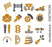 motor race icon set | Shutterstock .eps vector #428739250