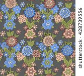 seamless pattern with blue and... | Shutterstock .eps vector #428739556