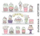 Cute Hand Drawn Glass Jars Wit...