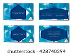 business card. vector... | Shutterstock .eps vector #428740294