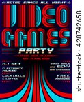 video games party   poster... | Shutterstock .eps vector #428742658