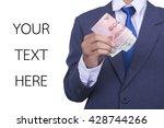 Businessman Shoiwing Money