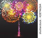 set festive firework salute... | Shutterstock .eps vector #428746264
