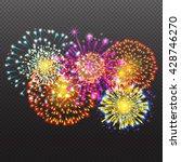 festive firework salute burst...   Shutterstock .eps vector #428746270