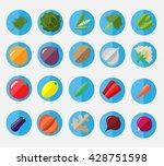fresh and tasty flat vegetables ... | Shutterstock .eps vector #428751598