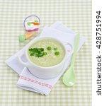 children's soup puree with... | Shutterstock . vector #428751994