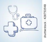 medical care design. sketch ...   Shutterstock .eps vector #428753548