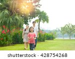 happy asian family enjoying... | Shutterstock . vector #428754268
