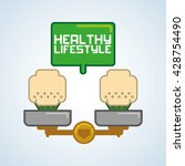 healthy food design. healthy... | Shutterstock .eps vector #428754490