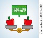 healthy food design. healthy... | Shutterstock .eps vector #428754580