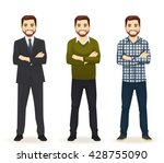 smiling handsome man in... | Shutterstock .eps vector #428755090