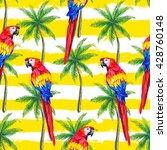 seamless jungle tropical... | Shutterstock .eps vector #428760148
