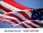 Close Up On American Flag Star...